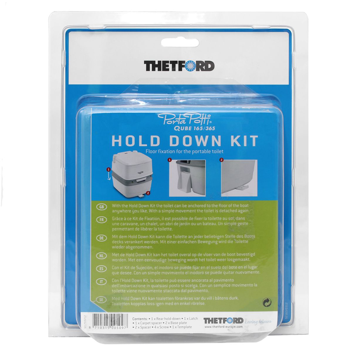 Hold Down Kit - Gulvfeste Porta Potti